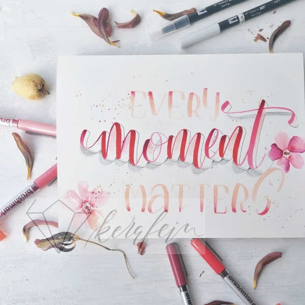 Brushlettering_3D_Flowers